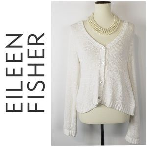EILEEN FISHER Cotton Cardigan Sweater